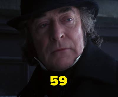 """Michael Caine sebagai Gober dalam """"The Muppet Christmas Carol"""""""