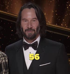 Keanu Reeves memberikan presentasi di Oscar pada tahun 2020