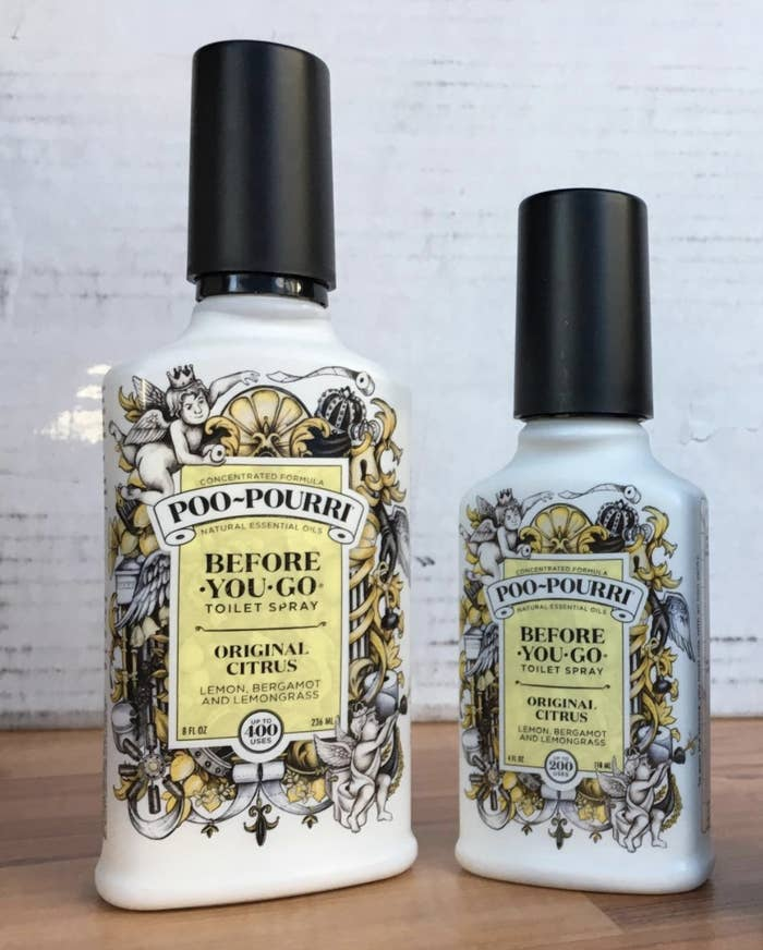 reviewer image of two bottles of citrus poo-pourri