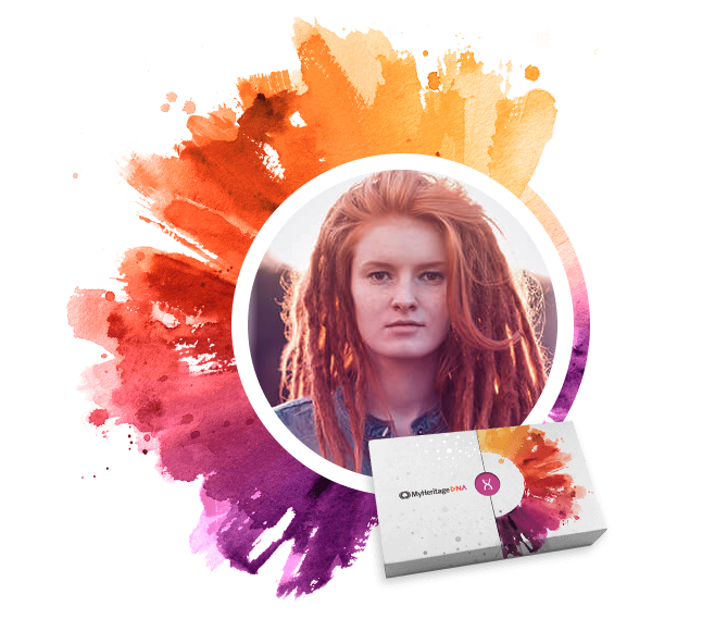 A MyHeritage DNA testing kit
