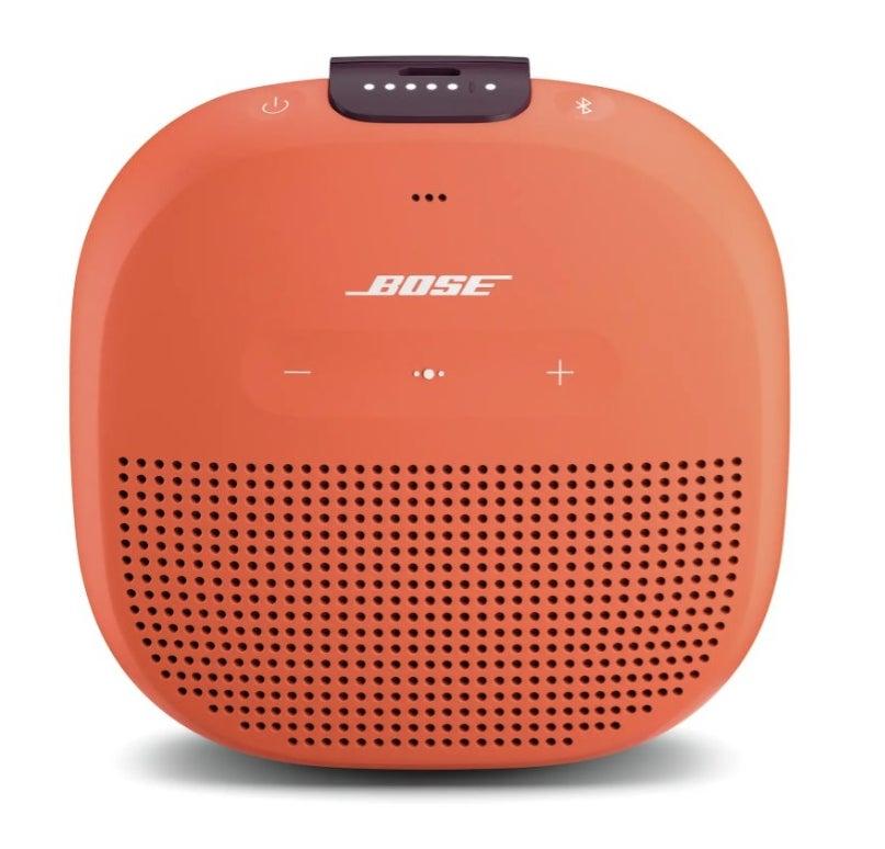 The Bose bluetooth speaker in orange