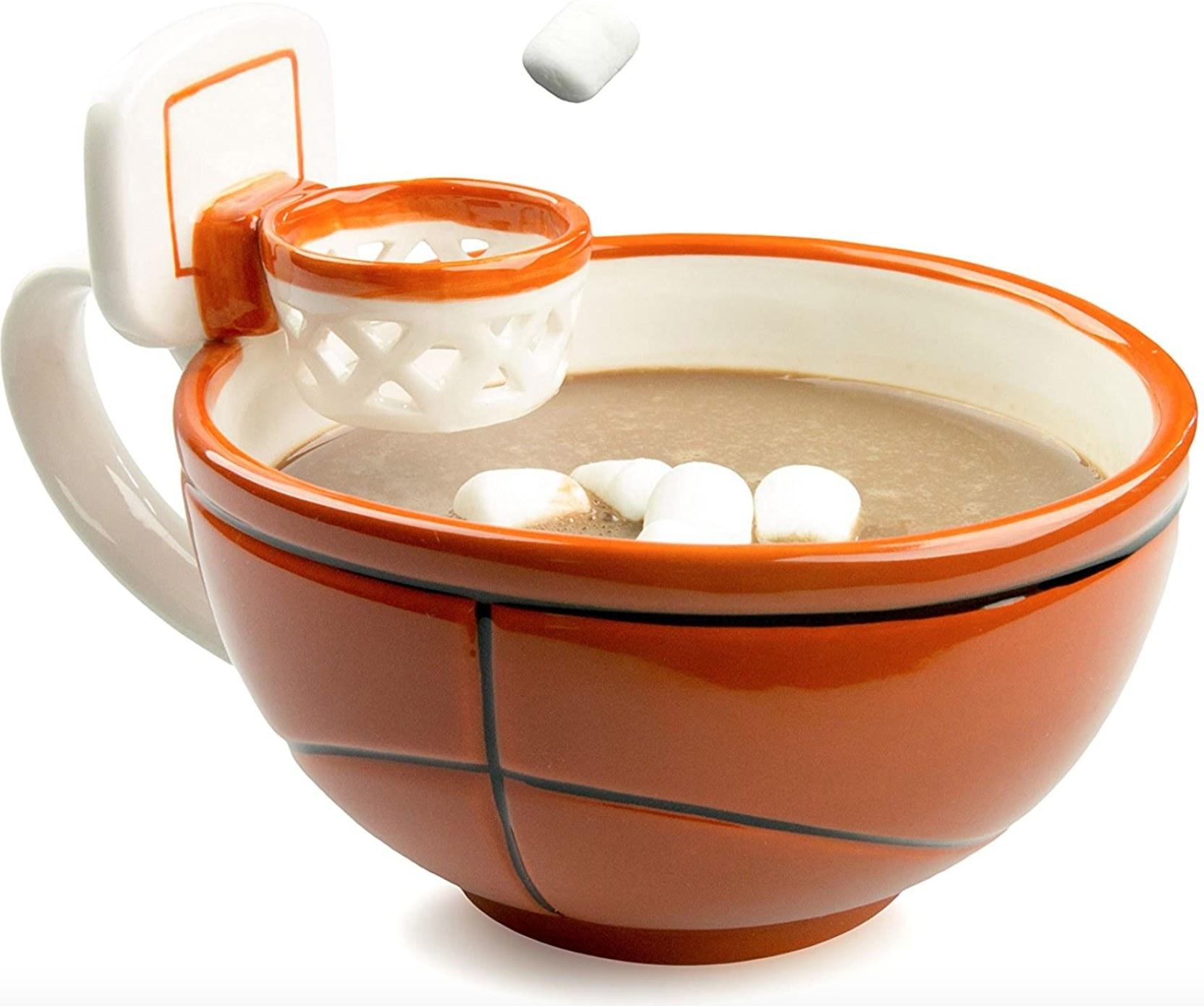 The basketball mug with a hoop