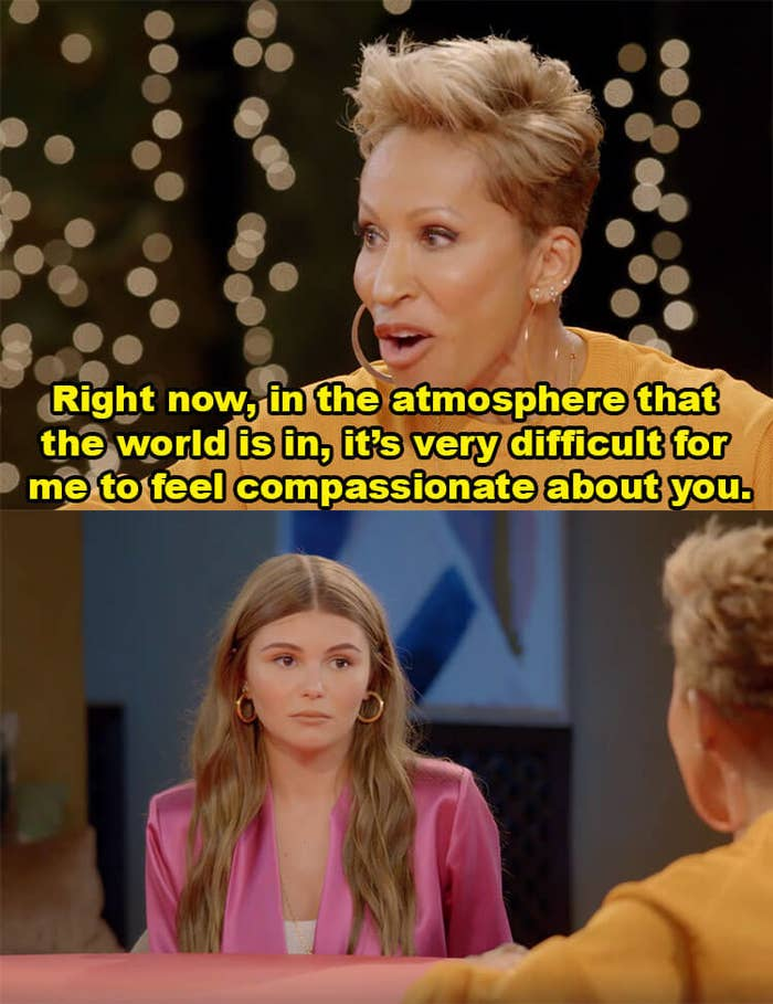 """Adrienne Banfield-Norris tells Olivia, """"Right now, in the atmosphere that the world is in, it's very difficult for me to feel compassionate about you"""""""