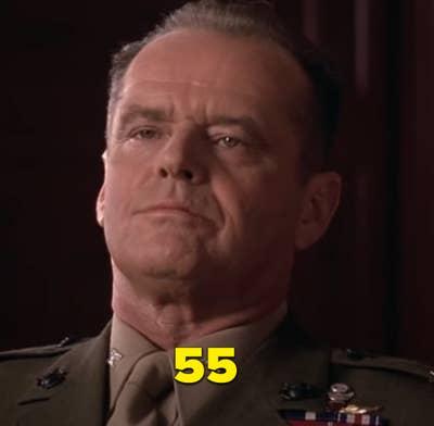 """Jack Nicholson selama adegan pidato ikonik dalam """"A Few Good Men"""""""