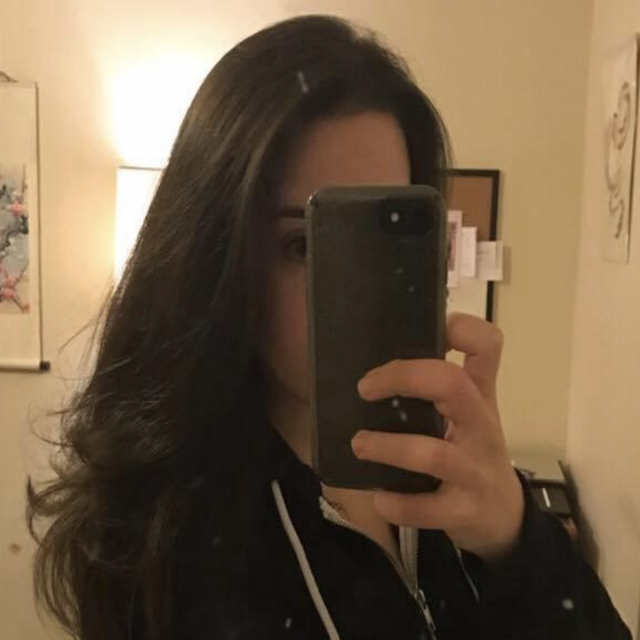 A reviewer's gorgeous, voluminous tresses after using the brush