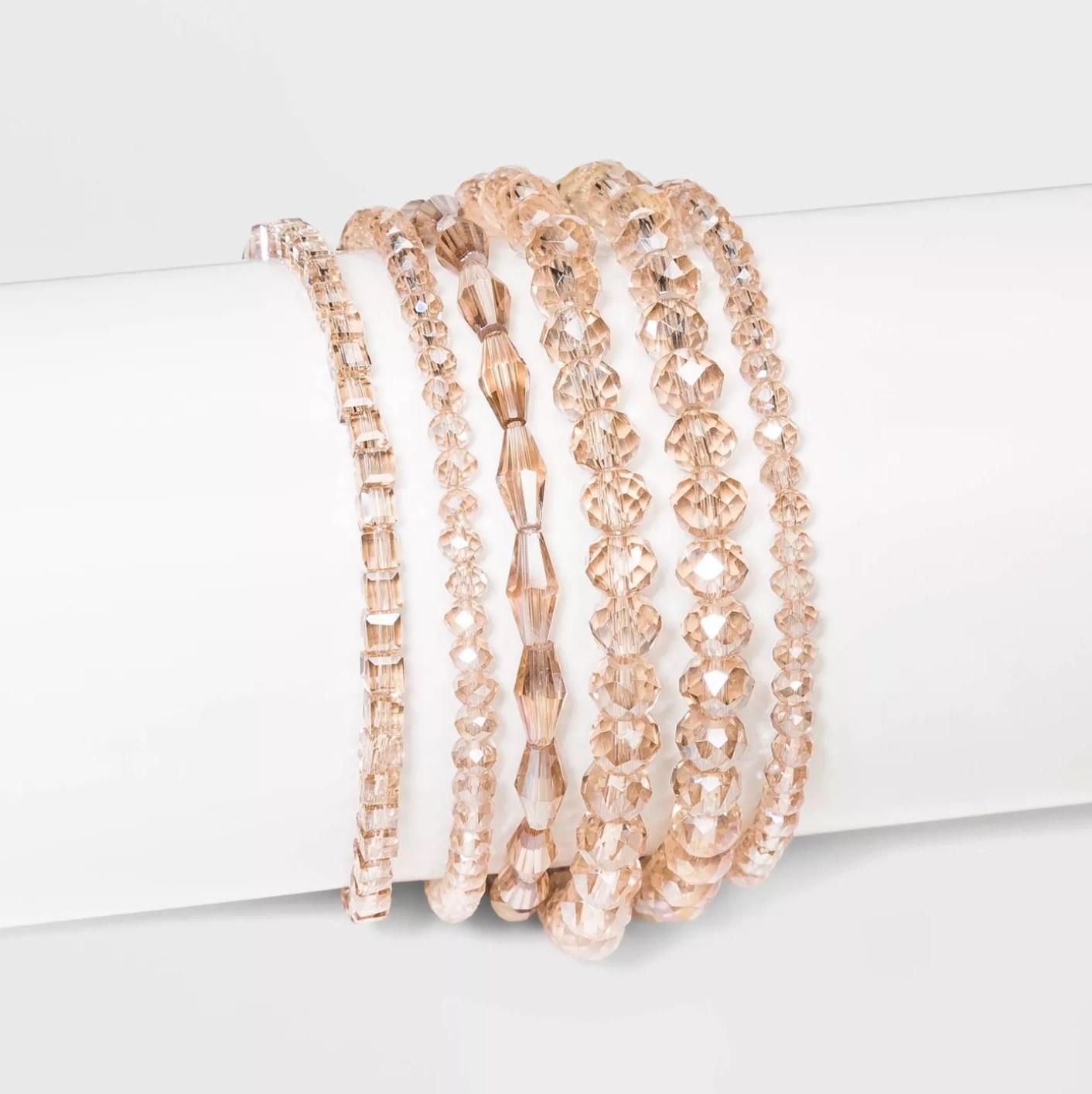 The rose gold bracelet