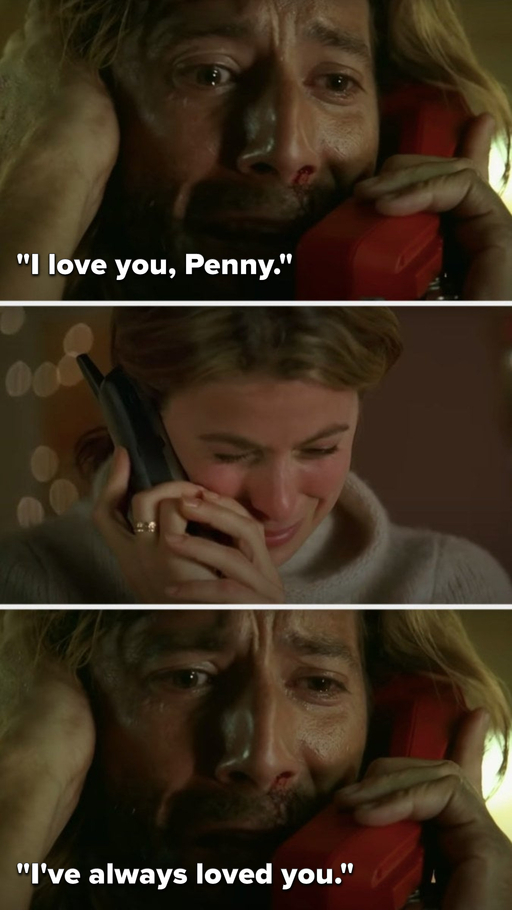 "Desmond says, ""I love you Penny, I've always loved you"""