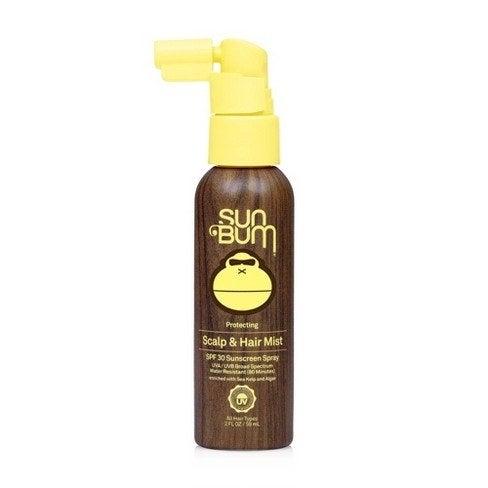 The spray bottle of sunscreen