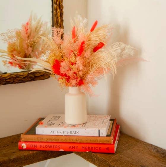Fuzzy floral bundle in warm tones and cream