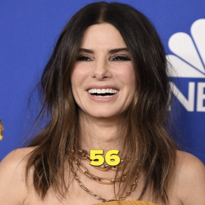 Sandra Bullock on an NBC red carpet event in 2020