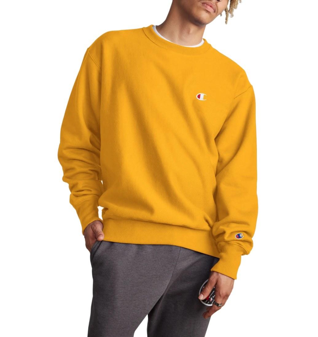 The Champion weave sweatshirt in gold