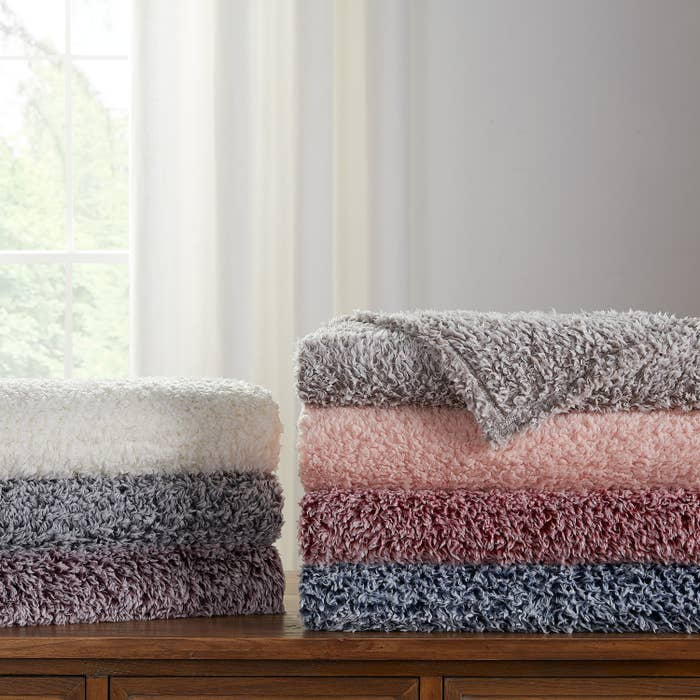 The fuzzy blankets in six colors