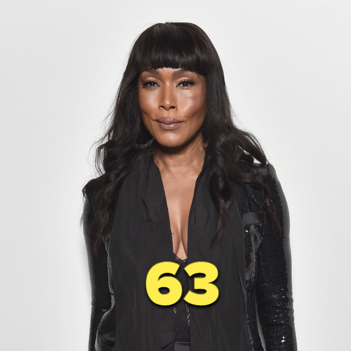 Angela Bassett wearing a black outfit at a 2020 event