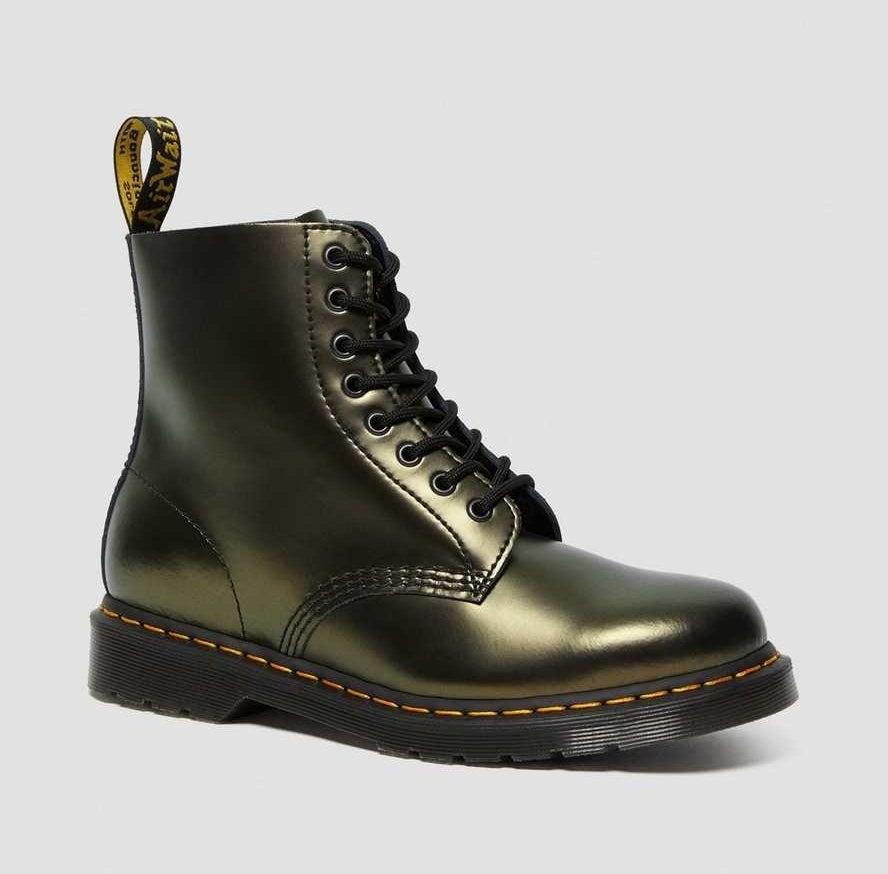 the gold metallic boot