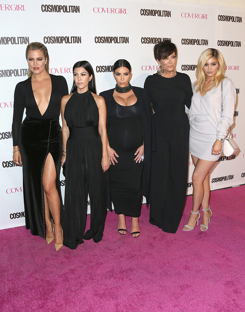 Khloe, Kourtney, and Kim Kardashian, along with Kris and Kylie Jenner