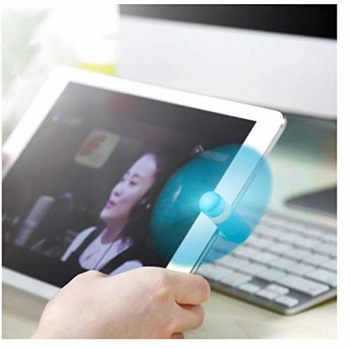 Fan attached to a tablet using the port.
