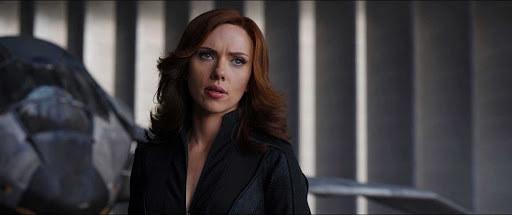 "Scarlett Johansson as Natasha Romanoff in the movie ""Captain America: Civil War."""