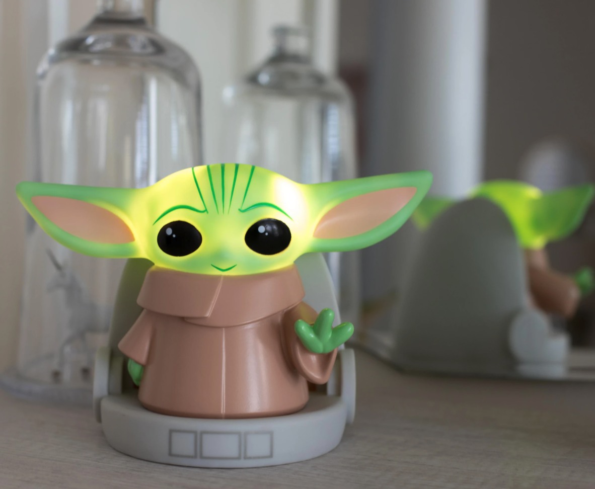 a 6-inch LED lamp shaped like The Child from Star Wars: The Mandalorian