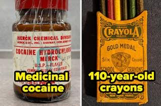 An antique bottle of medicinal cocaine