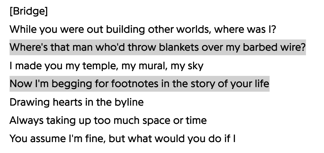 Tolerate It lyrics