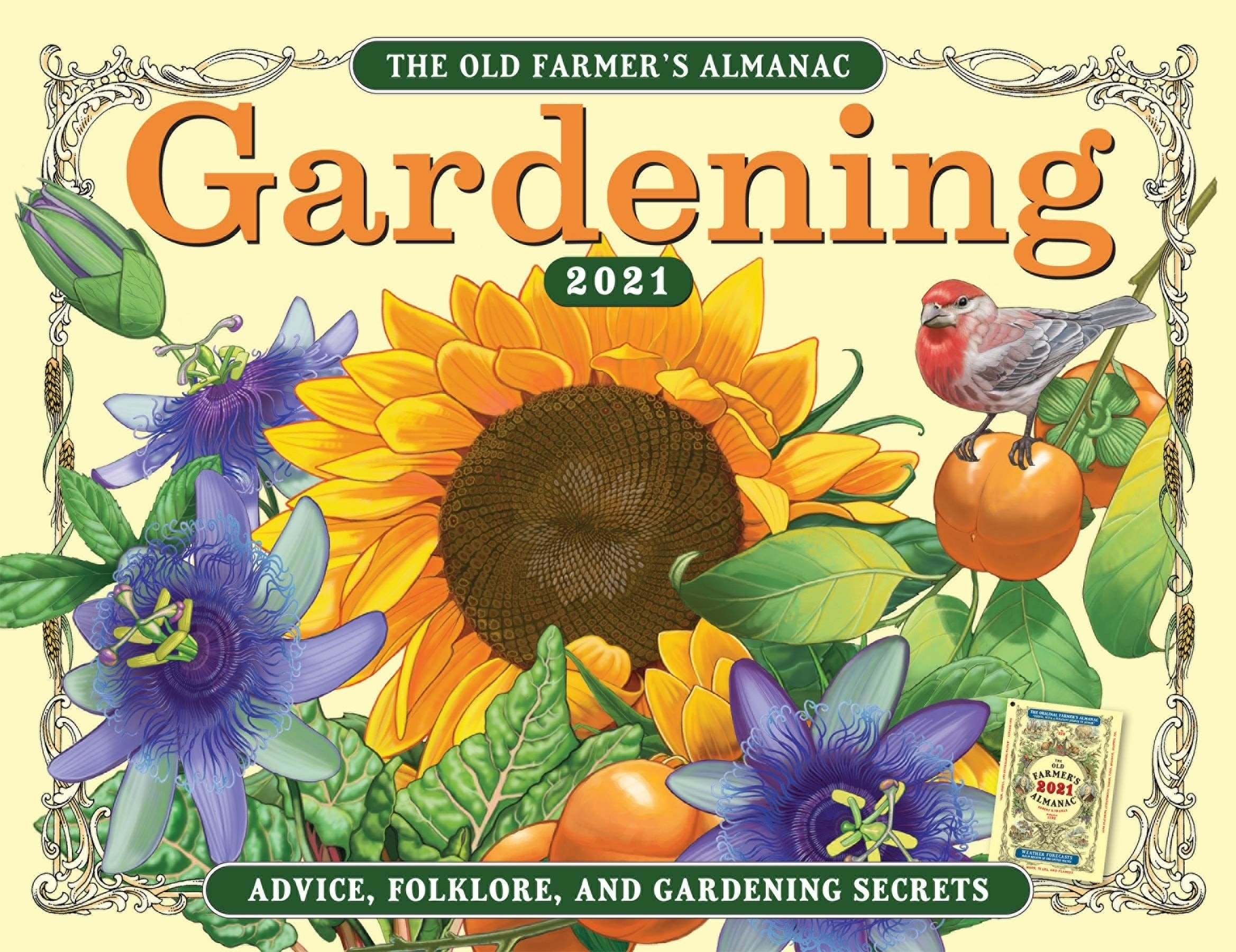 the calendar cover with a sunflower illustration