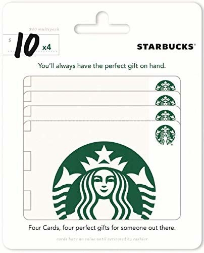 four-pack of the gift cards