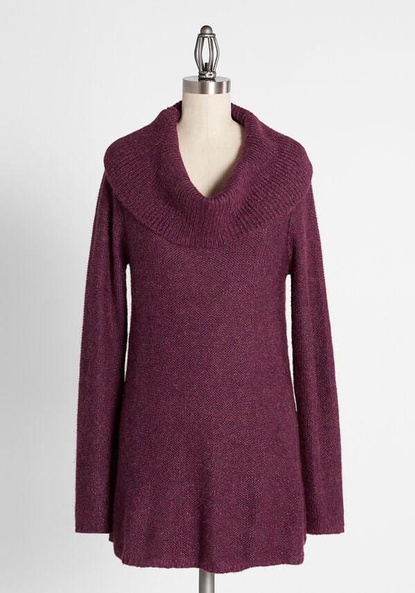 the reddish-purple tunic on a mannequin
