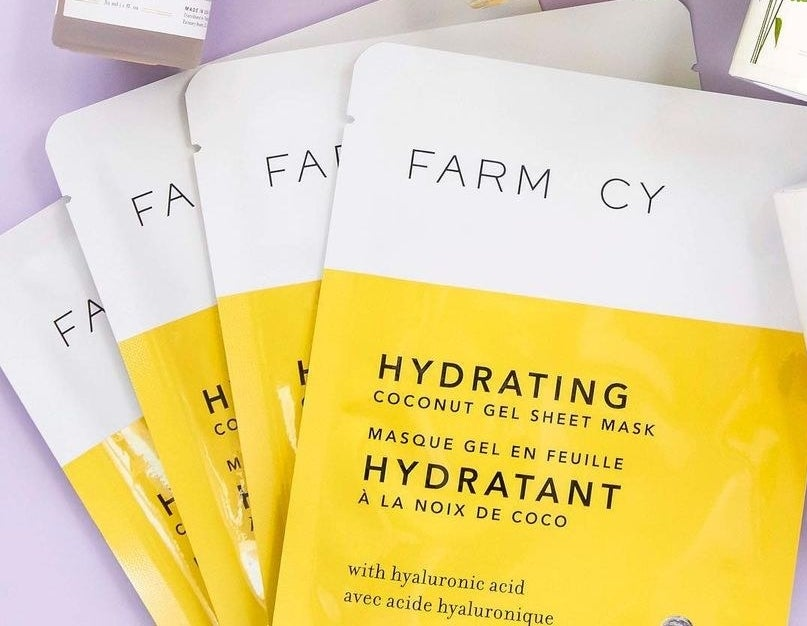 Four packets of hydrating sheet masks