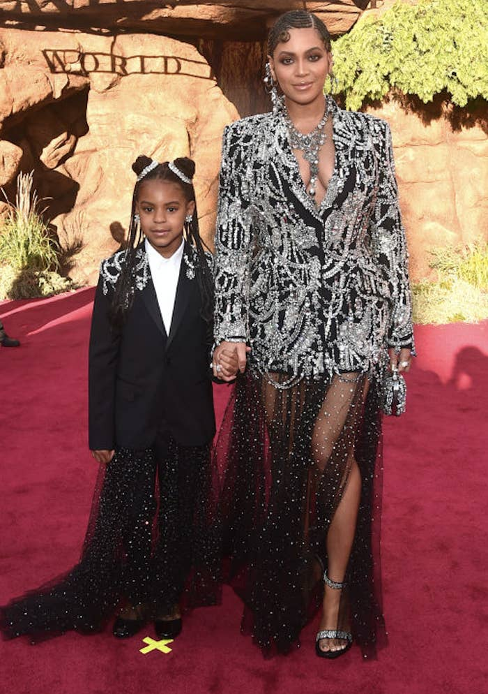 Blue Ivy and Beyoncé on the red carpet
