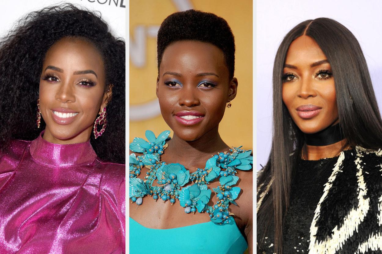 Kelly Rowland, Lupita Nyong'o, and Naomi Campbell