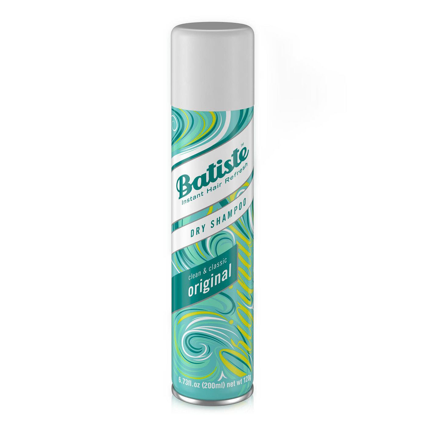 A bottle of the dry shampoo