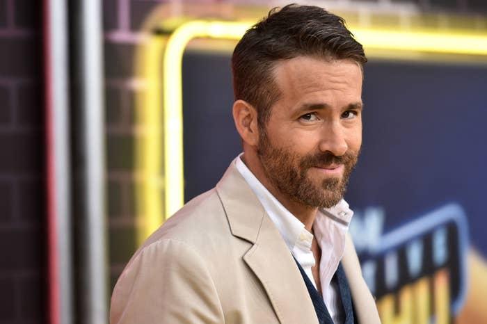Ryan Reynolds grinning