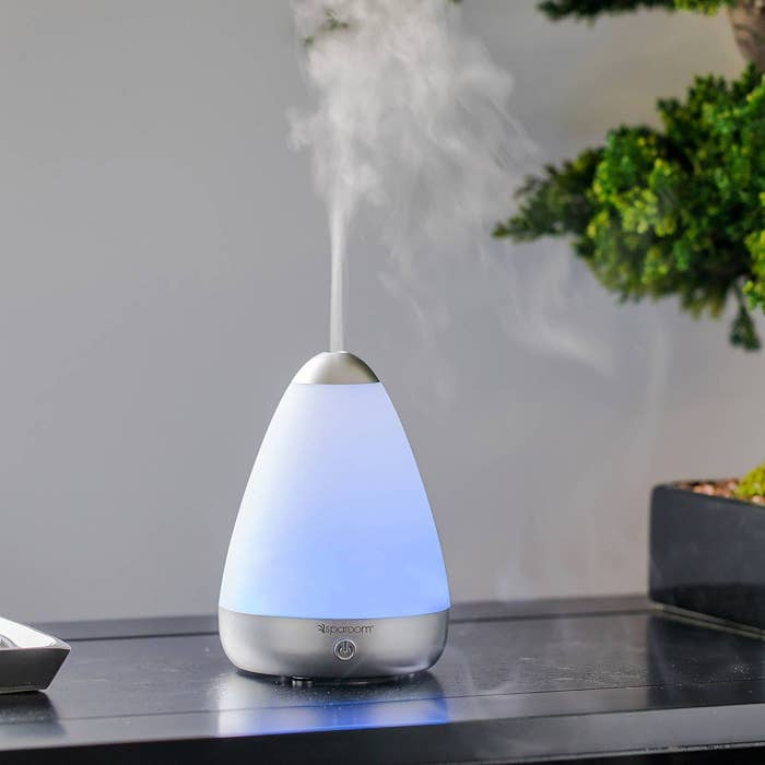 A dome-shaped essential oil diffuser