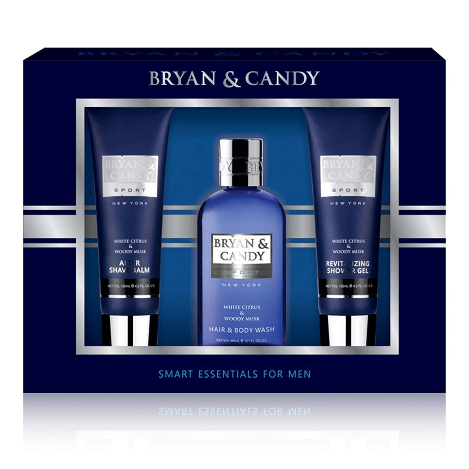 Aftershave set in a blue packaging