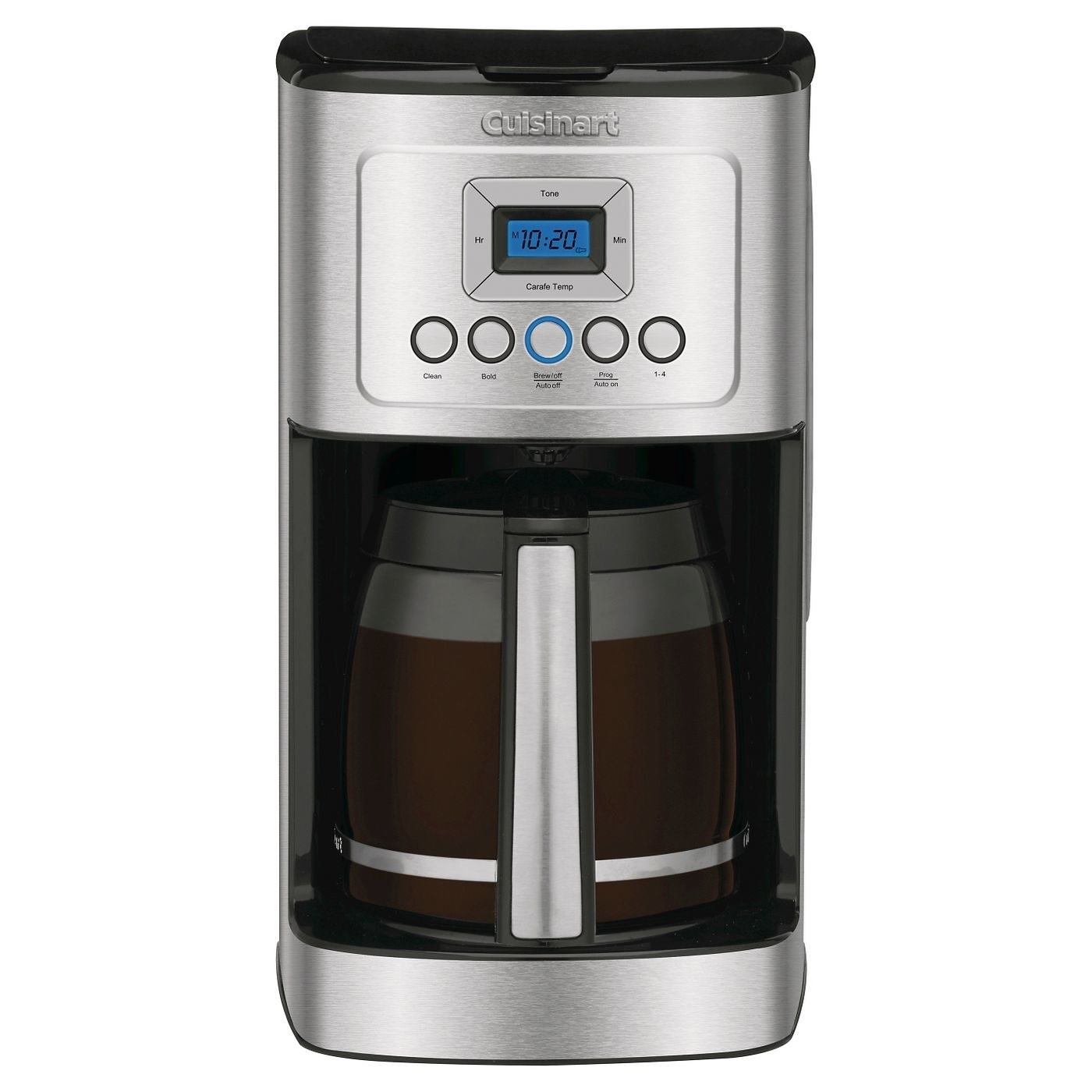 The silver coffeemaker