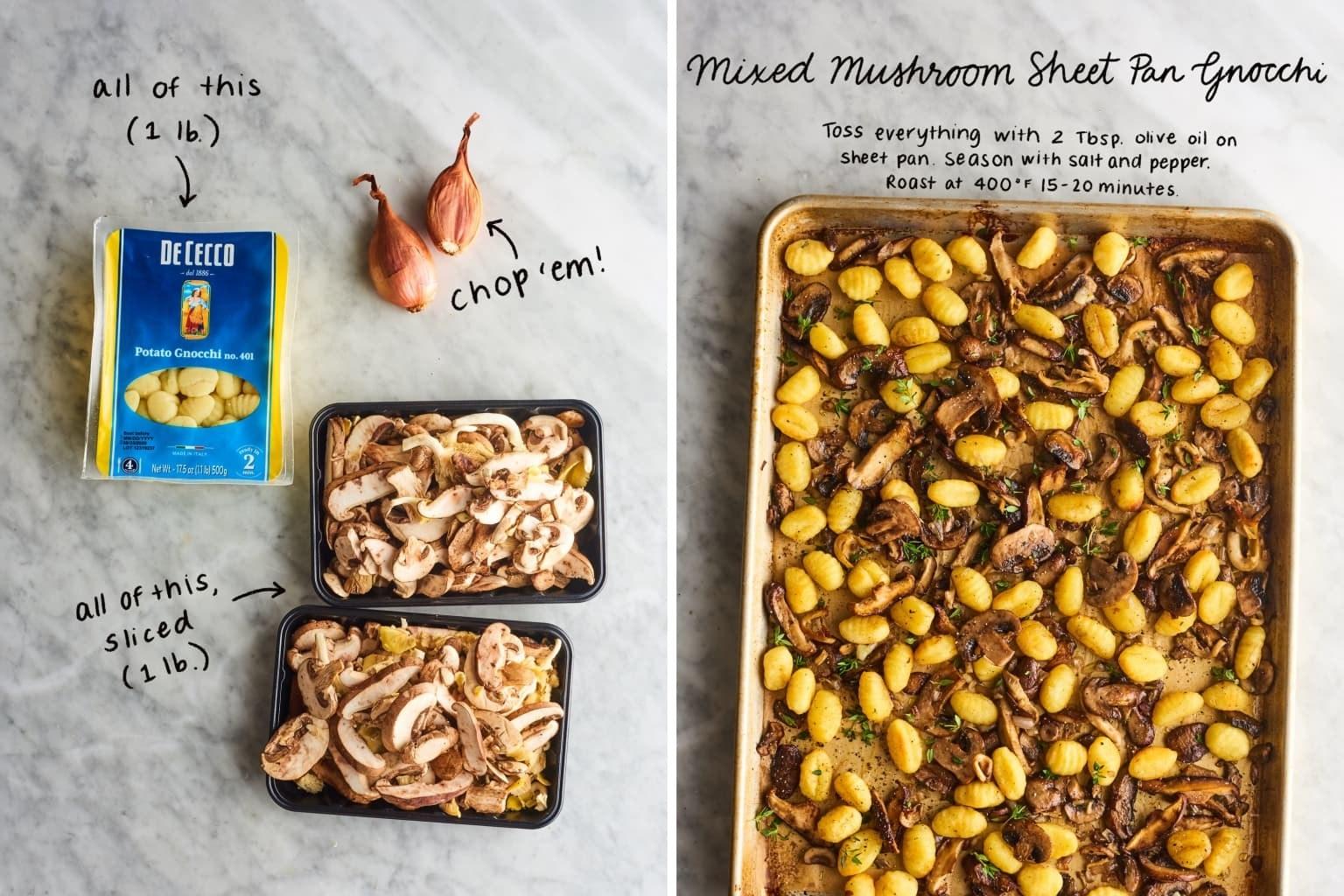 Sheet Pan Mushroom Gnocchi