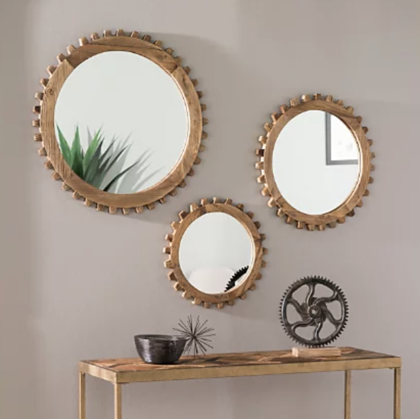 Round farmhouse mirror set