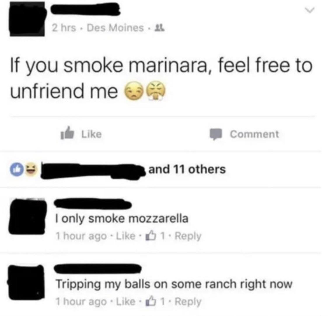 person mixing up marijuana and marinara
