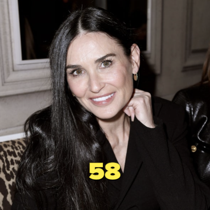 Demi Moore wearing all black at an event in 2020