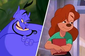 Genie from Aladdin and Roxanne from a Goofy Movie side by side