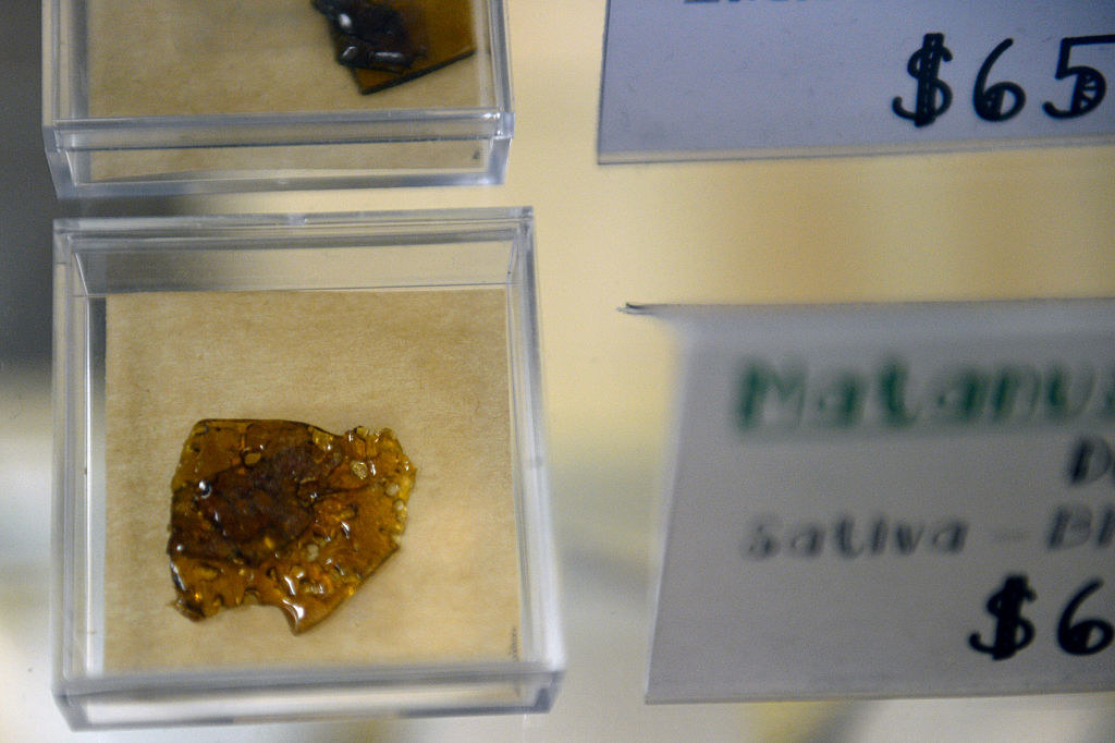 An image of cannabis shatter