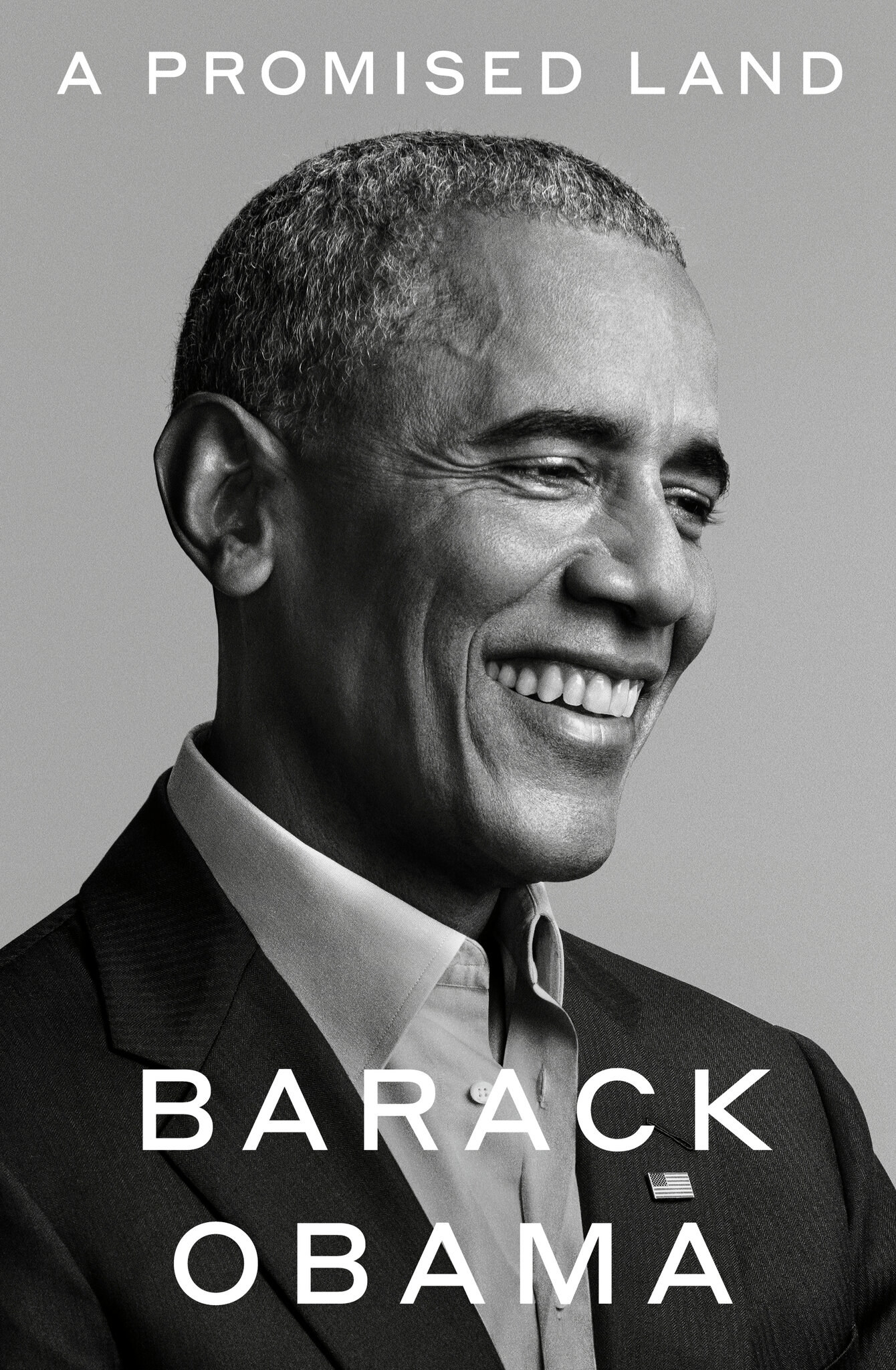 the book cover with Barack Obama's profile photo on it