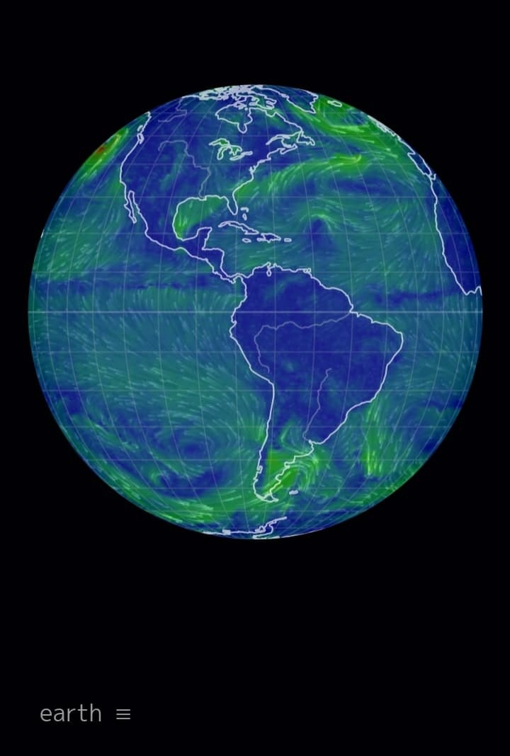 An image of the globe showing wind currents