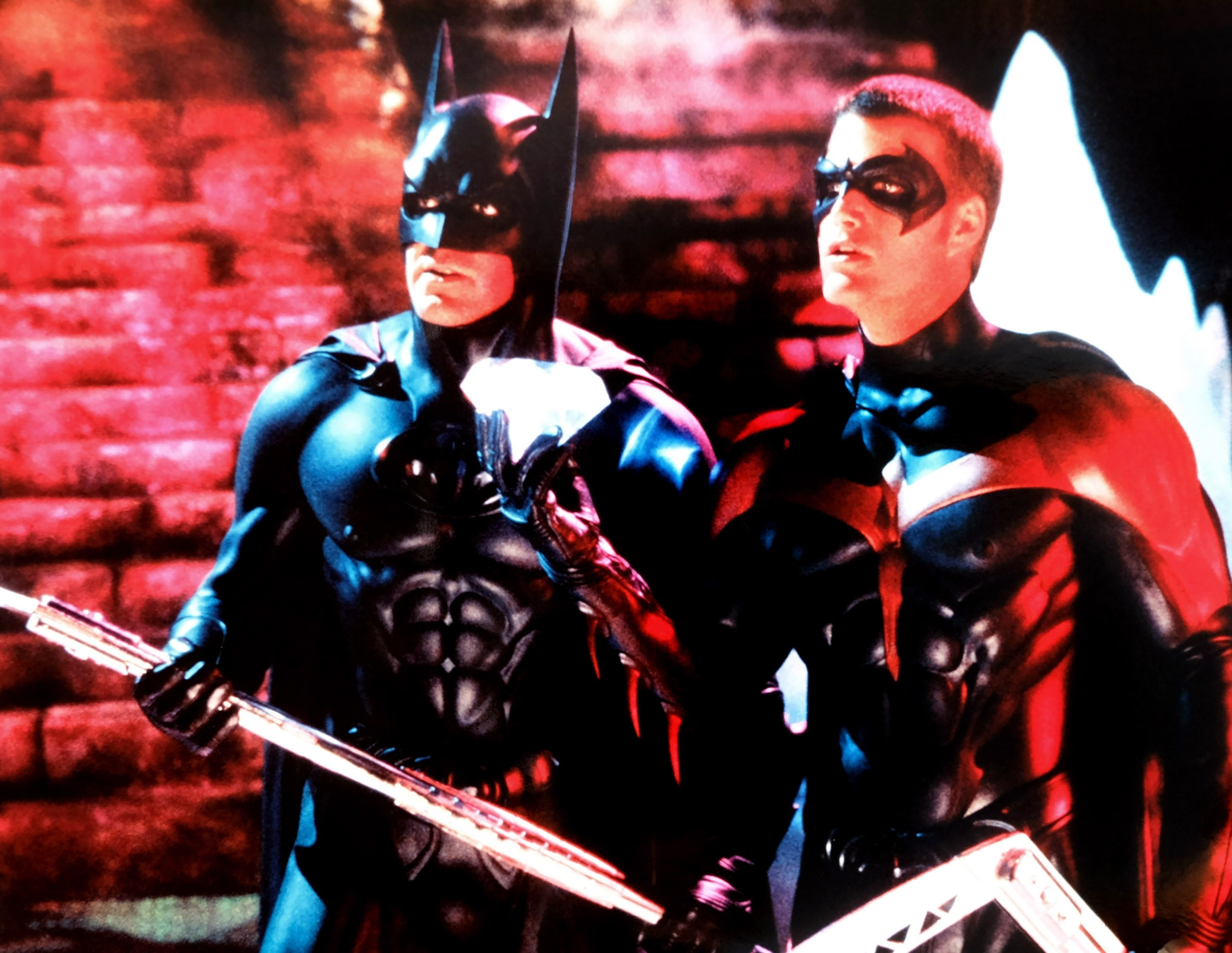 BATMAN & ROBIN, from left, George Clooney, Chris O'Donnell, 1997