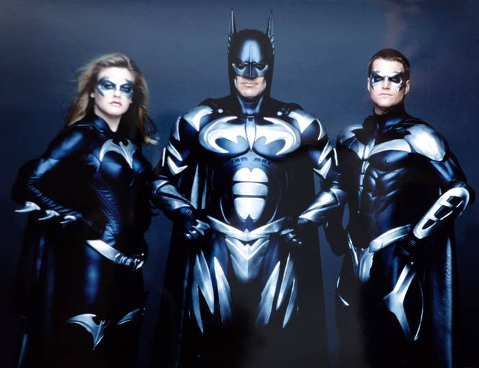 BATMAN & ROBIN, from left, Alicia Silverstone, George Clooney, Chris O'Donnell, 1997