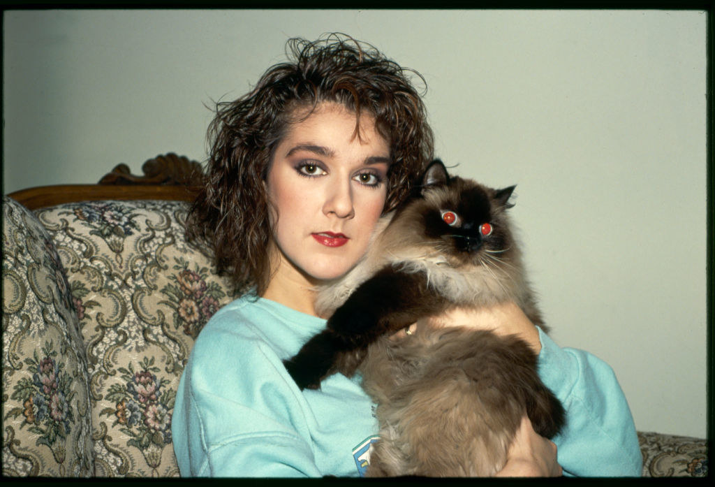 Celine with a cat