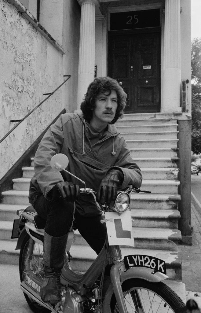 McKellen on a motorcycle, October 14th 1965.