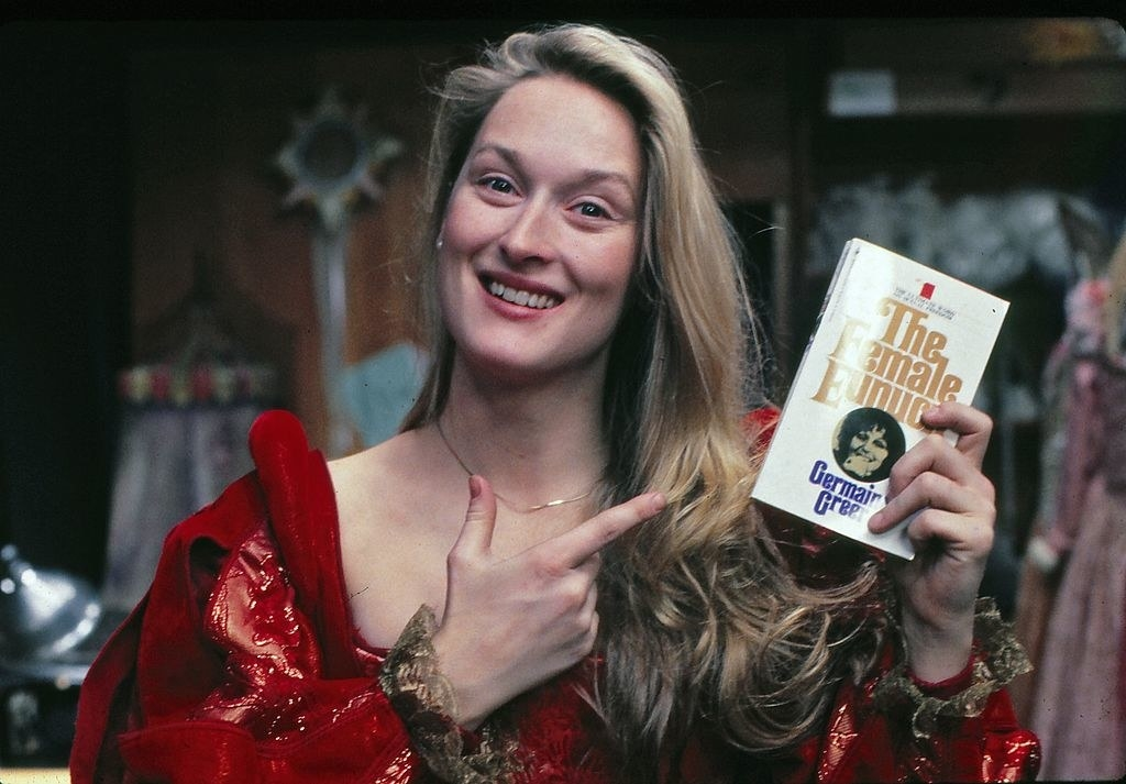 Meryl Streep rehearsing for a Shakespeare in the Park production