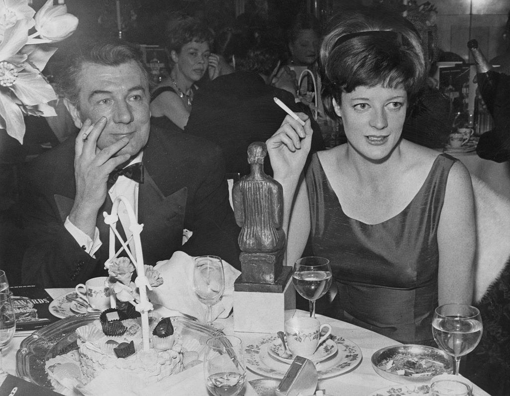 Maggie Smith at the Evening Standard theatre awards at the Savoy Hotel