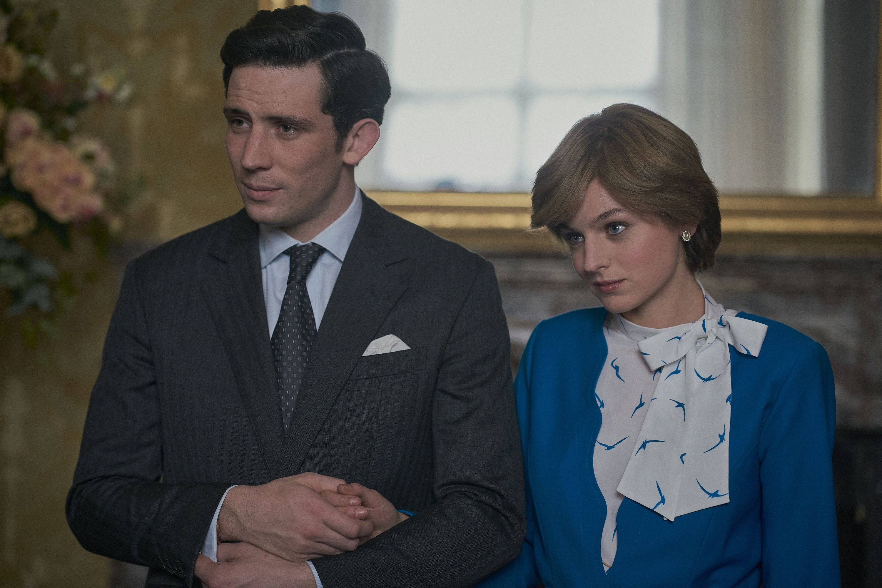 Josh O'Connor and Emma Corrin as Prince Charles and Princess Diana in The Crown
